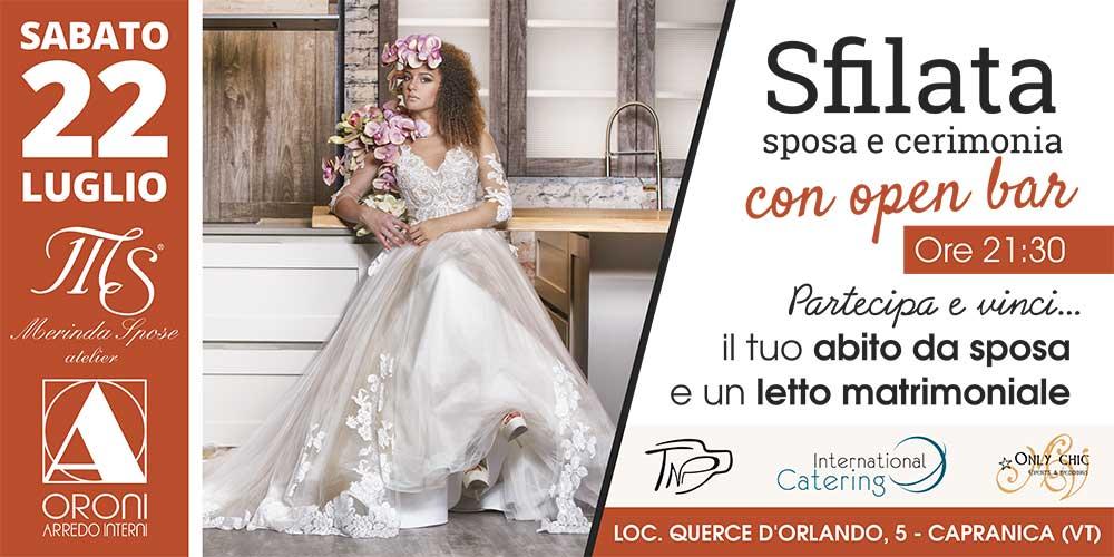Abiti Da Sposa E Cerimonia.Sfilata Abiti Sposa E Cerimonia Merinda Spose Atelier Vetralla